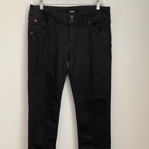 Hudson Black Collin Flap Skinny Jeans
